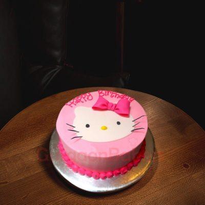 pink kitty cake