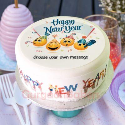 premium photo cake for new year