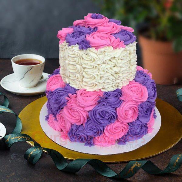 princess purple and pink birthday cake