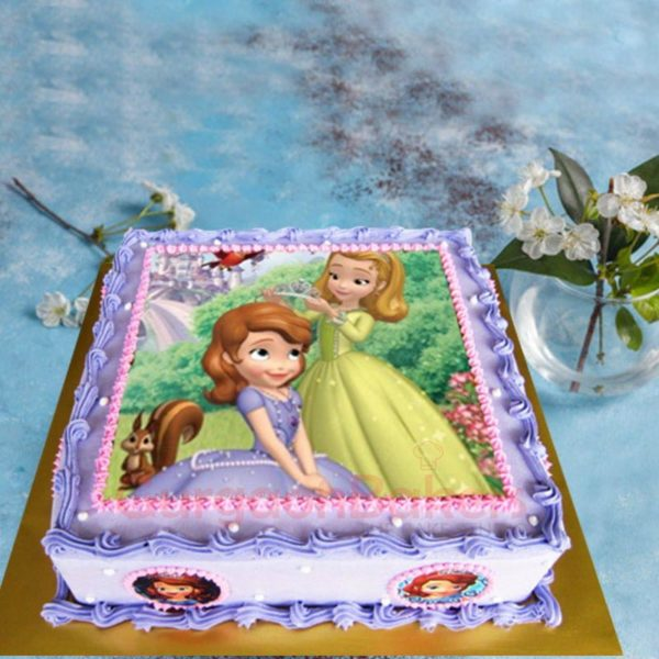 princess sofia and princess amber birthday cake