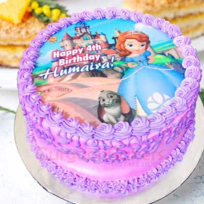 princess sofia purple cake