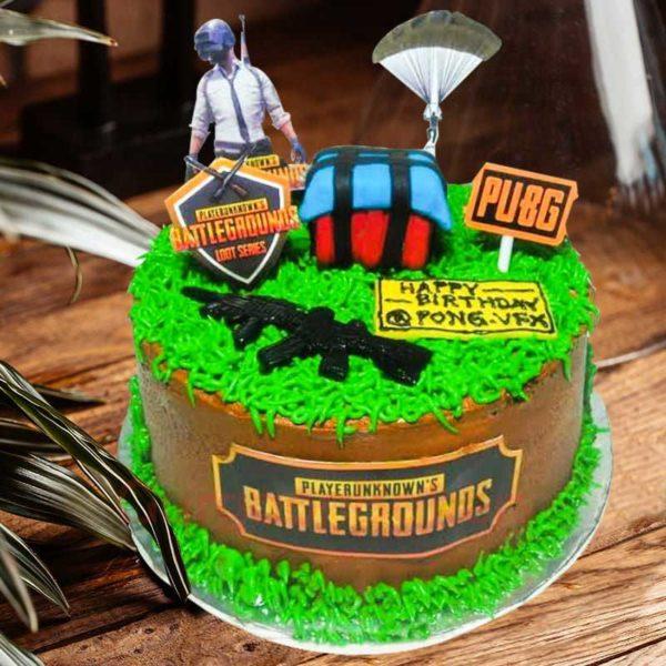 pubg mobile game cake