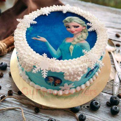 queen elsa magic cake