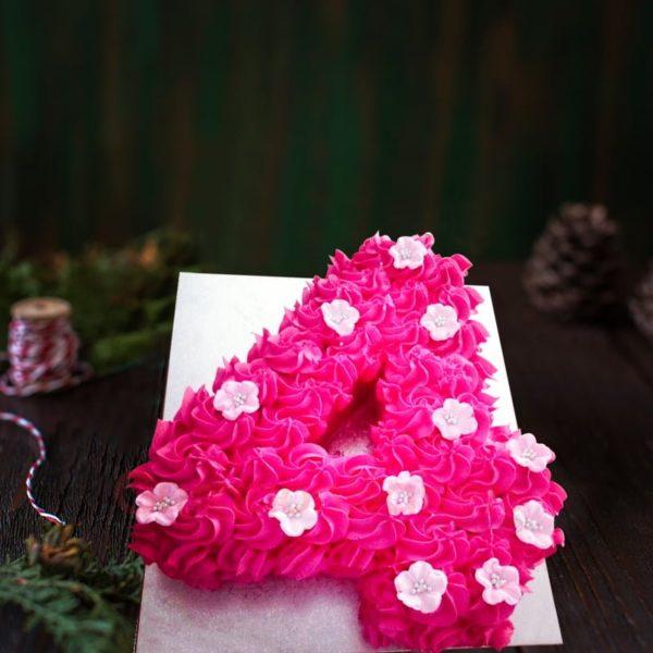 roses number cake