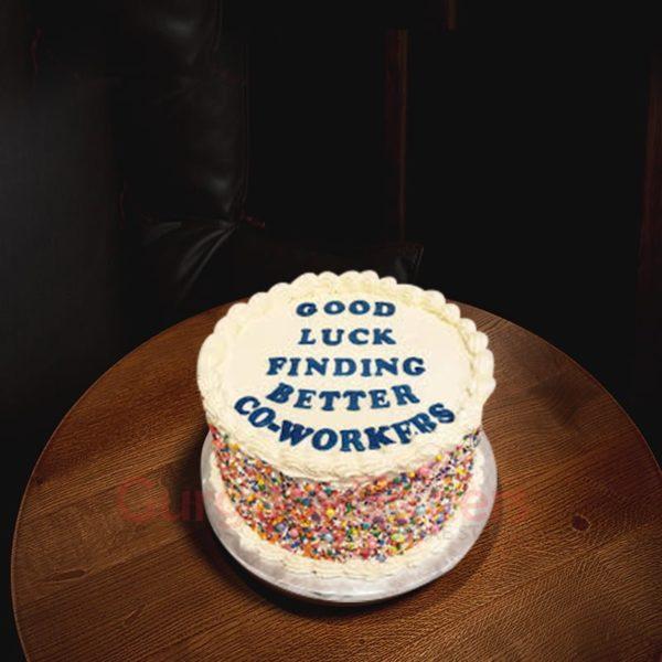 sassy farewell cake