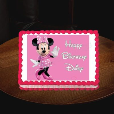signature minnie mouse birthday cake