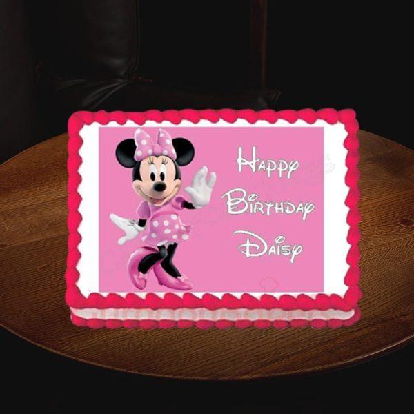 signature minnie mouse birthday cake