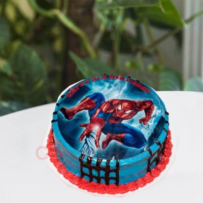 slinging spidey cake