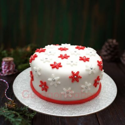 snowy christmas cake in gurgaon