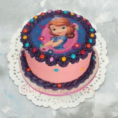 sofia the first photo cake