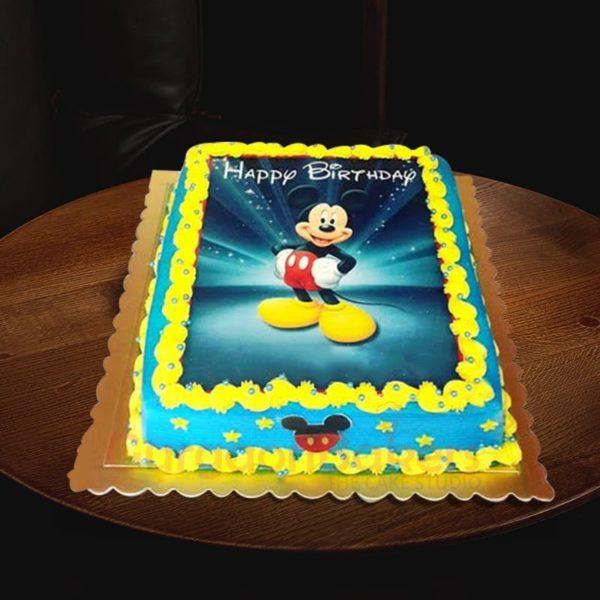 sparkling mickey cake