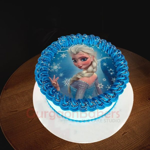sparkly queen elsa cake