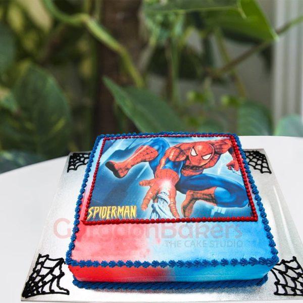 spidey web cake