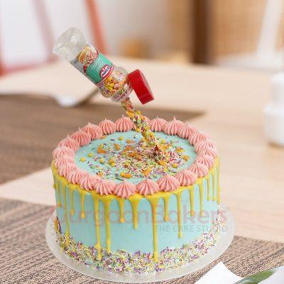 sprinkle explosion cake