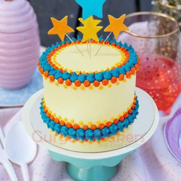 stars in the sky birthday cake