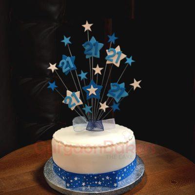 stars perfect birthday cake