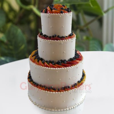 summer berry medley wedding cakes in Gurgaon