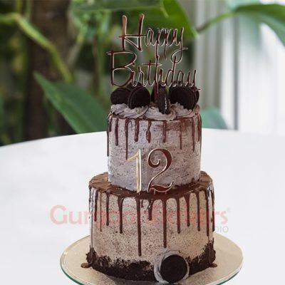 super tall oreo birthday cake