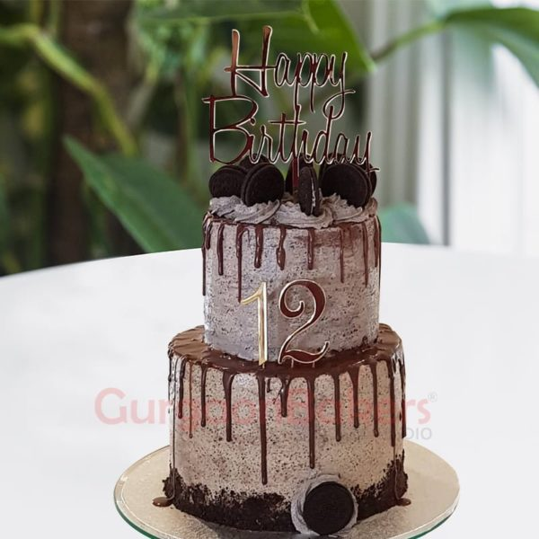 super tall oreo birthday cake