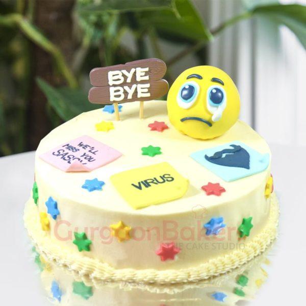 teary bye bye cake