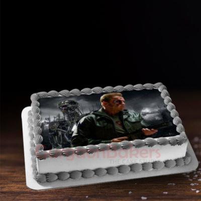 terminator themed cake