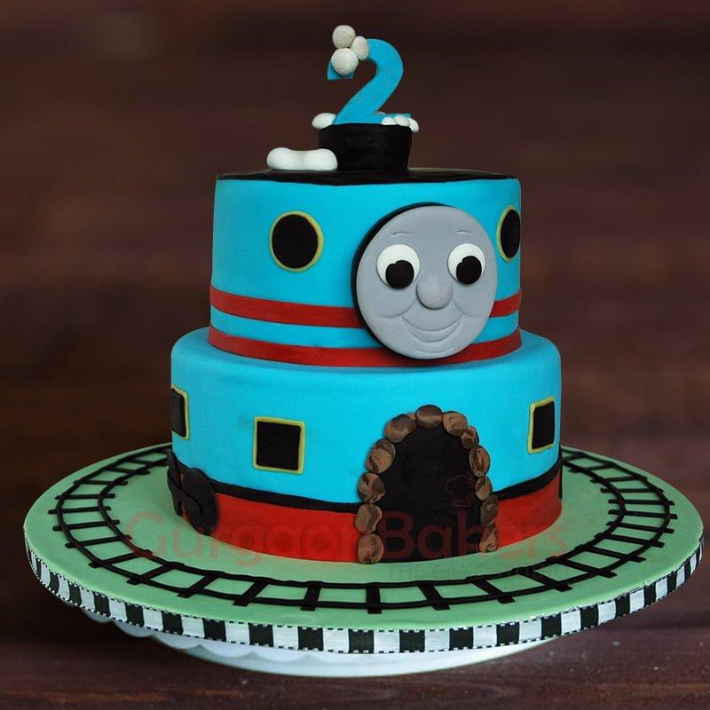 thomas train birthday cake