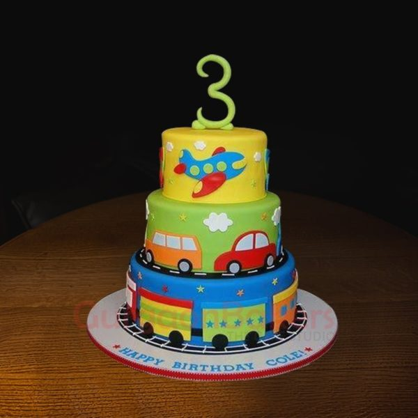 transport cake for toddlers