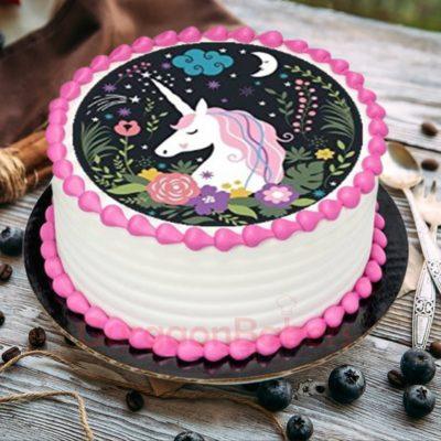 unicorn night sky cake