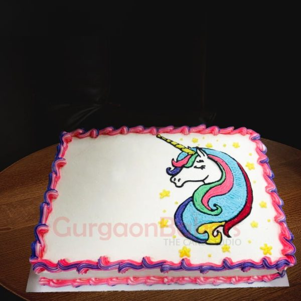 unicorn sheet cake