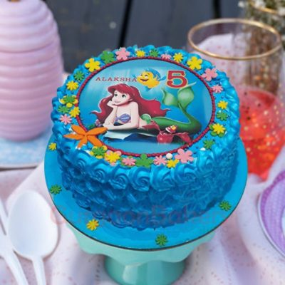 water world birthday cake