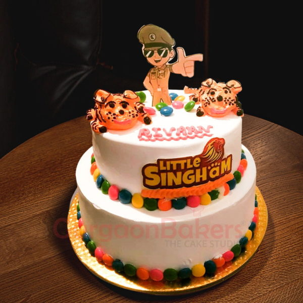 2 tier little singham cake