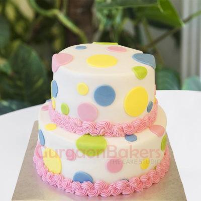 colourful diamond cake