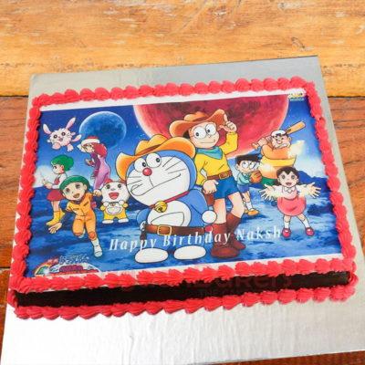 doraemon and friends birthday cake