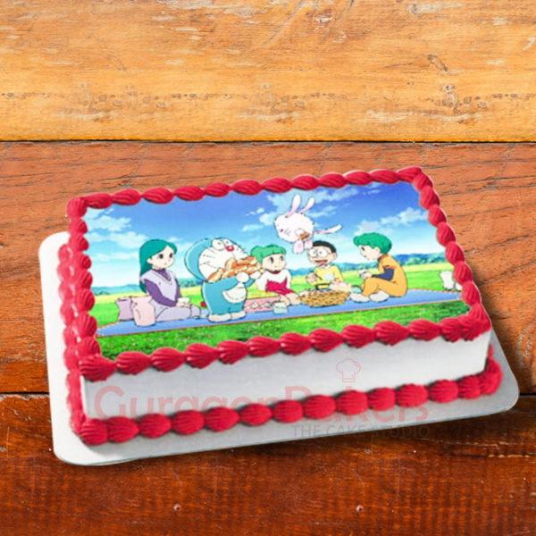 doraemon picnic cake