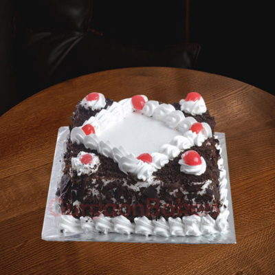 eggless black forest beauty cake