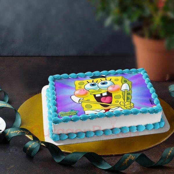 funny spongebob birthday cake
