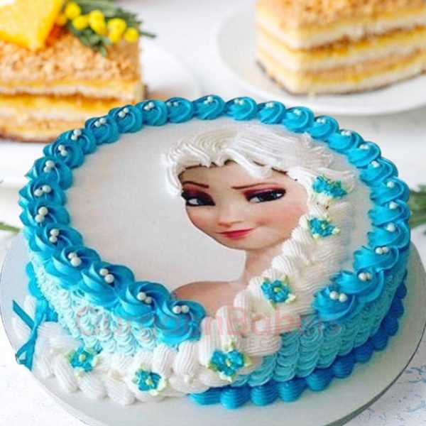 icy magic elsa cake