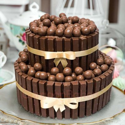 large chocolaty birthday cake