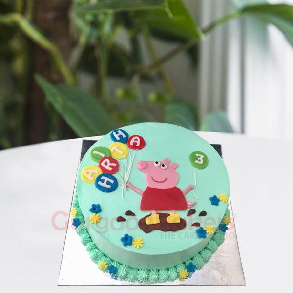 peppa muddy puddle cake