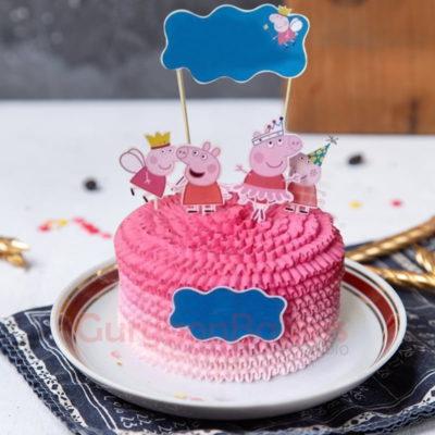 pinkalicious peppa cake