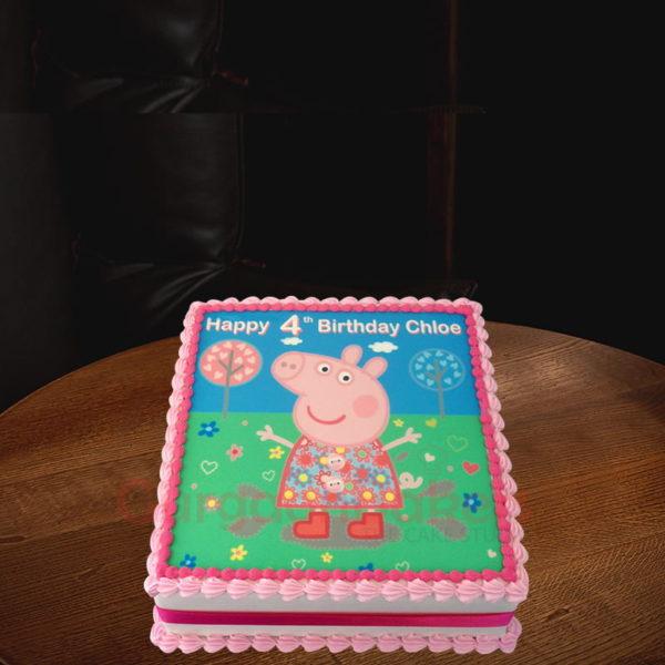 pretty peppa pig bday cake