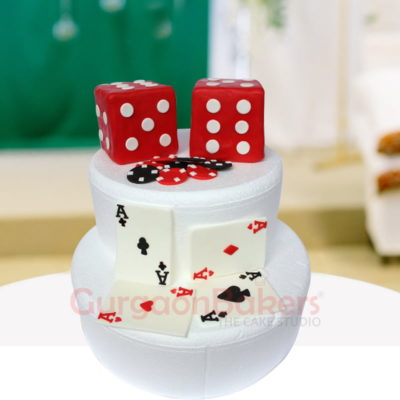 two dices cake