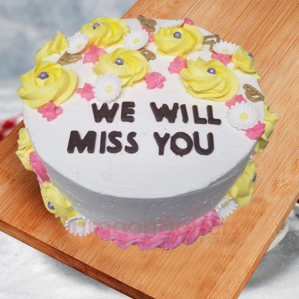 we will miss you farewell cake