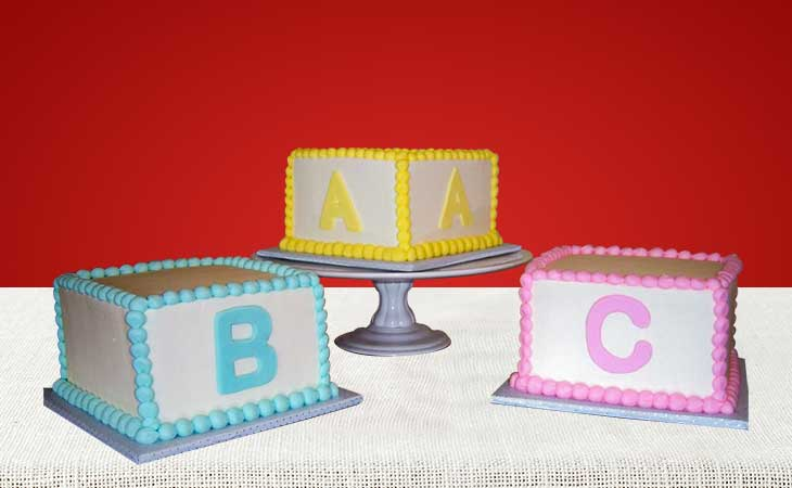 Alphabet And Number Cakes