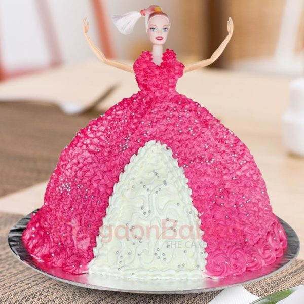 Ball Gown Barbie Cake