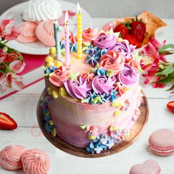 birthday-cake-with-colorful-flowers
