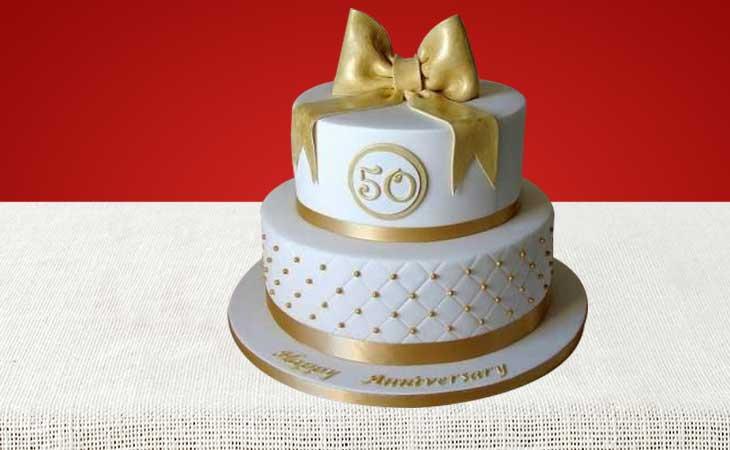 Golden Jubilee Anniversary Cakes