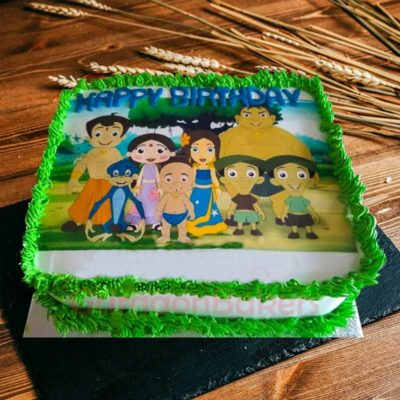 chhota-bheem-gang-and-princess-indumati-cake