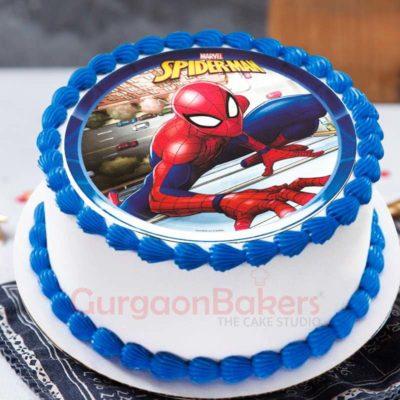 crawling-spiderman-cake