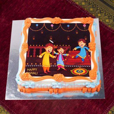 diwali-themed-photo-cake